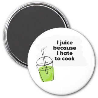 Lustige gesunde vegane Diät Juicing reinigen Runder Magnet 7,6 Cm