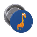 Lustige Giraffe Button