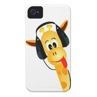lustige Giraffe mit Kopfhörern iPhone 4 Hüllen