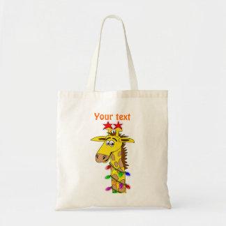 Lustige Giraffe mit Licht-wunderlichem Weihnachten Tasche