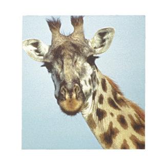 lustige Giraffe Notizblock