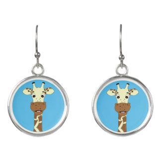 Lustige Giraffen-Cartoonohrringe für Mädchen Ohrringe