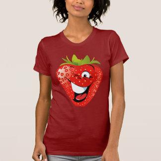 lustige glückliche lebhafte Erdbeere T-Shirt