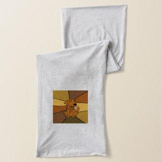 Lustige golden retriever-Hundekunst Schal