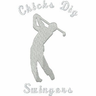 Lustige Golf-Küken-Grabungs-lebenslustige Typen Bestickte Polos