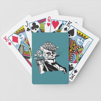lustige Golf spielende Katze Bicycle Spielkarten