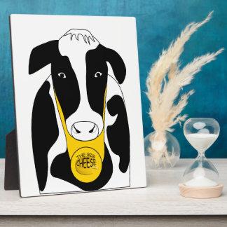 Lustige große Käse-Chef-Kuh 8x10 Fotoplatte
