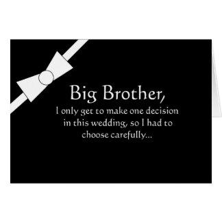 Lustige großer Bruder-Trauzeuge-Einladungs-Karte Grußkarte