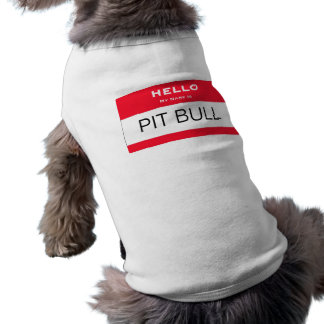 Lustige Grube Stier mein Name ist Namensumbau-Hund Hund Tshirt