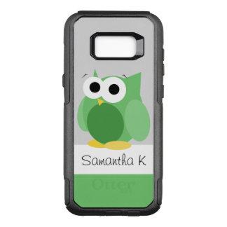 Lustige grüne Eulen-Samsung-Galaxie S8 OtterBox Commuter Samsung Galaxy S8+ Hülle