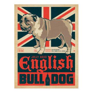 Lustige gute englische Bulldogge Postkarte