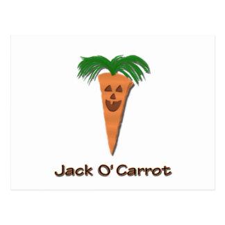 Lustige Halloween-Jack O Karotte Postkarte