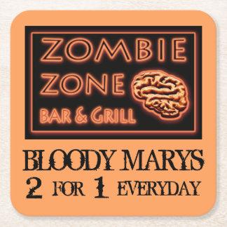 Lustige Halloween-Zombie-Zone blutiges Marys Rechteckiger Pappuntersetzer
