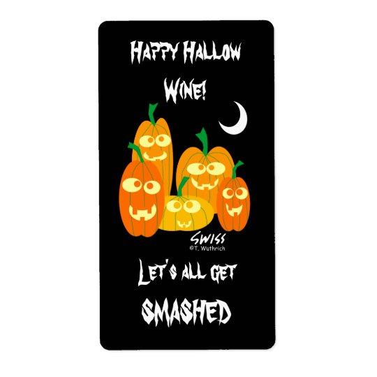 Lustige Halloweenwein-oder -bier-Aufkleber