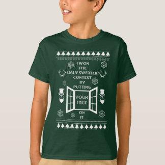 Lustige hässliche Chrstmas Strickjacke T-Shirt