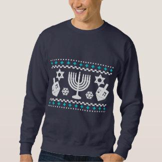 Lustige hässliche Feiertags-Strickjacke Chanukkas Sweatshirt