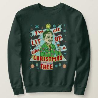 Lustige hässliche Weihnachtsstrickjacke-Retro Sweatshirt