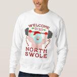 Lustige hässliche Weihnachtsstrickjacke | Sankt Sweatshirt