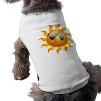 Lustige Haustier-Kleidung SommerSun Ärmelfreies Hunde-Shirt