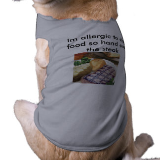 Lustige Haustiere Ärmelfreies Hunde-Shirt
