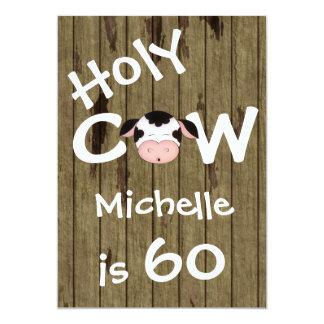 Lustige heilige Kuh-60. Geburtstags-Party 12,7 X 17,8 Cm Einladungskarte