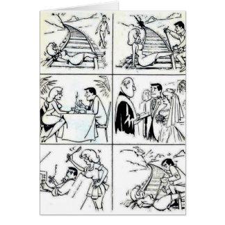 Lustige Heirat/verabredete Verhältnis-Zyklus Grußkarte