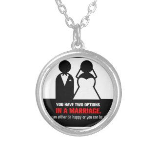 Lustige Heirat Versilberte Kette