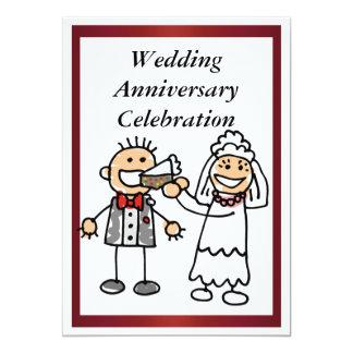 Lustige Hochzeitstag-Einladung 12,7 X 17,8 Cm Einladungskarte