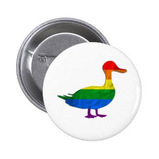 Lustige homosexuelle und Lesben-Stolz-Ente, Quaken Button