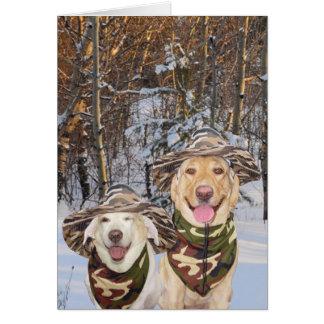 Lustige Hunde/Labrador-kundengerechter Karte