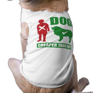 Lustige Hunde sind billiger als Kinder Ärmelfreies Hunde-Shirt