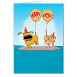 Lustige Hunde-und Katzen-Geburtstags-Karte