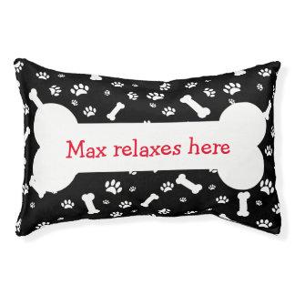 Lustige Hundeknochen-Kissen Haustierbett