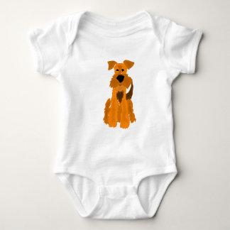 Lustige Hundekunst Airedales Terrier Baby Strampler