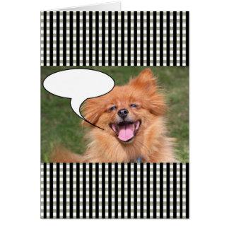 Lustige Hundespracheblase Karte
