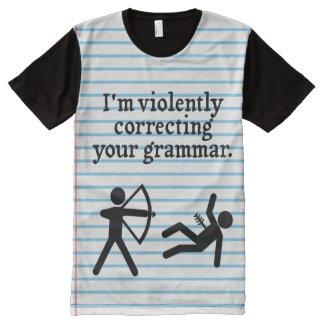 """Lustige """"Ihre Grammatik-still, korrigierend"""" T-Shirt Mit Bedruckbarer Vorderseite"""