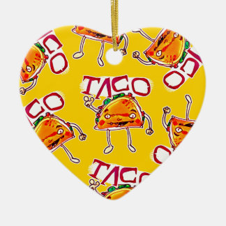 lustige Illustration der Taco-Cartoon-Art Keramik Herz-Ornament