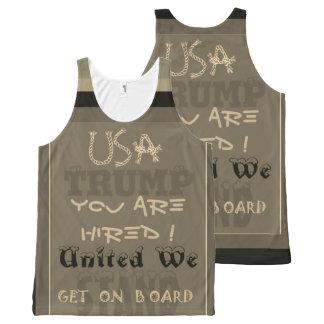 Lustige inspirierte USA, die Sie eingestellt Komplett Bedrucktes Tanktop