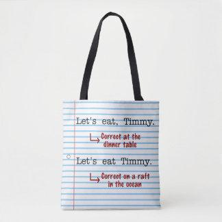 Lustige Interpunktions-Grammatik | ließ uns Timmy Tasche