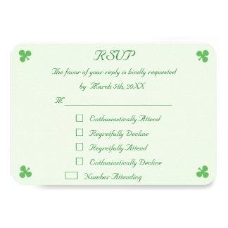 Lustige irische grüne Hochzeit UAWG 8,9 X 12,7 Cm Einladungskarte