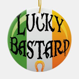 Lustige irische Weihnachtsverzierung Keramik Ornament