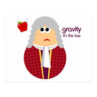 Lustige Isaac- Newtonpostkarte Postkarte