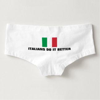Lustige Italiener verbessert es Flaggenunterwäsche Damen-Hotpants