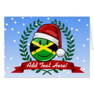 Lustige jamaikanische Flaggen-Weihnachtsart Karte