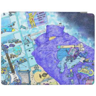 Lustige Jungen-Schlafzimmer-Verwirrungs-blauer iPad Hülle