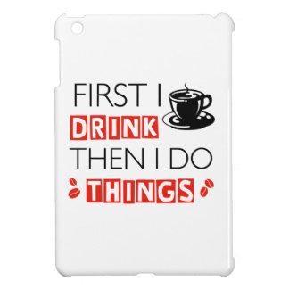 Lustige Kaffeeentwürfe iPad Mini Hülle