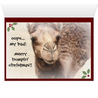 Lustige Kamel-Buckel-Tagesweihnachtskarte (2) Karte