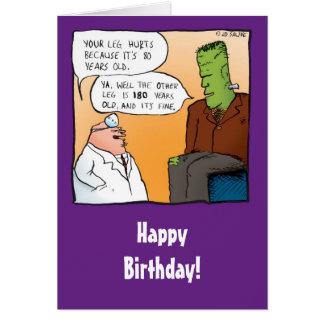 Lustige Karte Frankensteins Doktor-Geburtstag