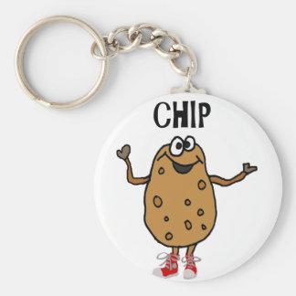 Lustige Kartoffel genannt Chip Cartoon Schlüsselanhänger