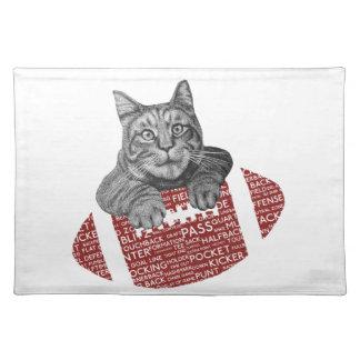 Lustige Katze amerikanischer Fußball der Tischset